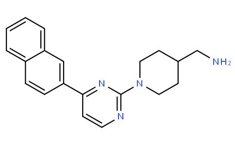 (1-(4-(naphthalen-2-yl)pyrimidin-2-yl)piperidin-4-yl)methanamine