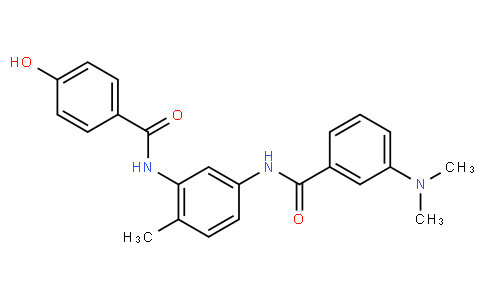 3-(dimethylamino)-N-(3-(4-hydroxybenzamido)-4-methylphenyl)benzamide