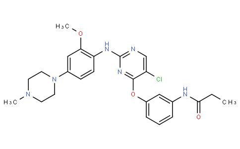 N-(3-((5-chloro-2-((2-methoxy-4-(4-methylpiperazin-1-yl)phenyl)amino)pyrimidin-4-yl)oxy)phenyl)propionamide