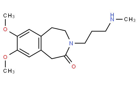 2H-3-Benzazepin-2-one, 1,3,4,5-tetrahydro-7,8-dimethoxy-3-[3-(methylamino)propyl]-