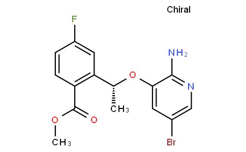 (R)-methyl 2-(1-(2-amino-5-bromopyridin-3-yloxy)ethyl)-4-fluorobenzoate