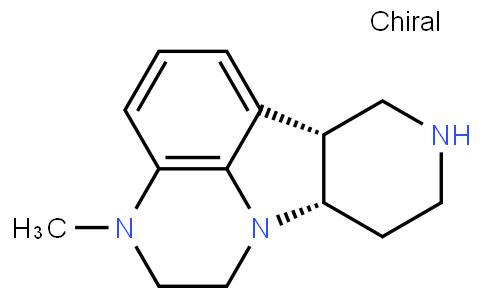 1H-Pyrido[3',4':4,5]pyrrolo[1,2,3-de]quinoxaline, 2,3,6b,7,8,9,10,10a-octahydro-3-methyl-, (6bR,10aS)-