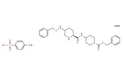 benzyl 4-[({(2S,5R)-5-[(benzyloxy)amino]piperidin-2-yl}carbonyl)amino]piperidine-1-carboxylate mono-tosylate
