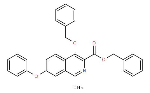 benzyl 4-(benzyloxy)-1-methyl-7-phenoxyisoquinoline-3-carboxylate