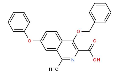 4-(benzyloxy)-1-methyl-7-phenoxyisoquinoline-3-carboxylic acid