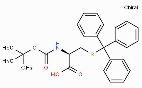 N-叔丁氧羰基-S-三苯甲基-L-半胱氨酸