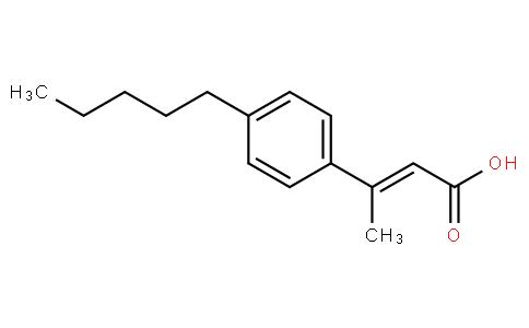 (E)-3-(4-pentylphenyl)but-2-enoic acid