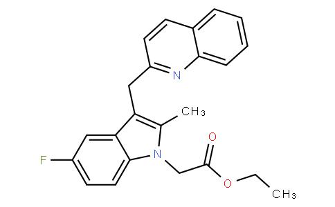 ethyl 2-(5-fluoro-2-methyl-3-(quinolin-2-ylmethyl)-1H-indol-1-yl)acetate
