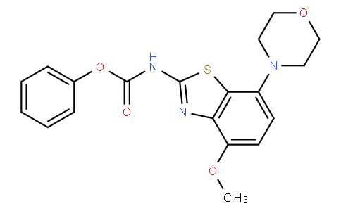 (4-methoxy-7-morpholin-4-yl-benzothiazol-2-yl)-carbamic acid phenyl ester