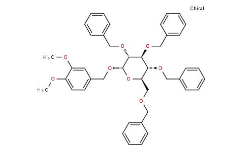 3,4-dimethoxybenzyl 2,3,4,6-tetra-O-benzyl-伪-D-glucopyranoside