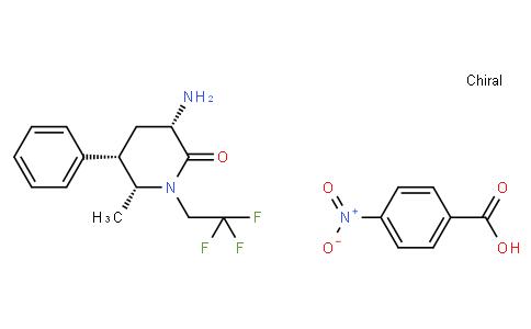 Benzoic acid, 4-nitro-, compd. with (3S,5S,6R)-3-amino-6-methyl-5-phenyl-1-(2,2,2-trifluoroethyl)-2-piperidinone (1:1)