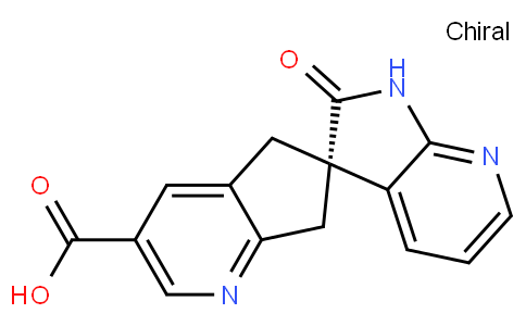 Spiro[6H-cyclopenta[b]pyridine-6,3'-[3H]pyrrolo[2,3-b]pyridine]-3-carboxylic acid, 1',2',5,7-tetrahydro-2'-oxo-, (3'S)-
