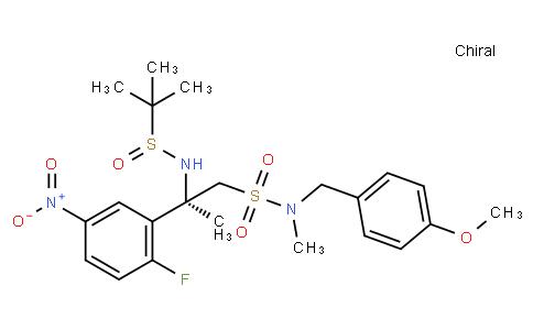 Benzeneethanesulfonamide, β-[[(R)-(1,1-dimethylethyl)sulfinyl]amino]-2-fluoro-N-[(4-methoxyphenyl)methyl]-N,β-dimethyl-5-nitro-, (βR)-