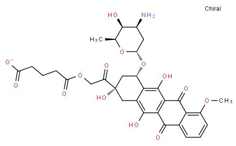 Pentanedioic acid, mono[2-[(2S,4S)-4-[(3-amino-2,3,6-trideoxy-α-L-lyxo-hexopyranosyl)oxy]-1,2,3,4,6,11-hexahydro-2,5,12-trihydroxy-7-methoxy-6,11-dioxo-2-naphthacenyl]-2-oxoethyl] ester (9CI)