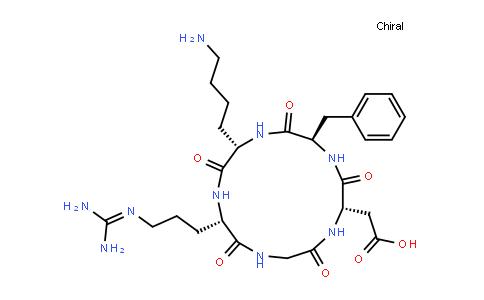 2-[(2S,5R,8S,11S)-8-(4-aminobutyl)-5-benzyl-11-[3-(diaminomethylideneamino)propyl]-3,6,9,12,15-pentaoxo-1,4,7,10,13-pentazacyclopentadec-2-yl]acetic acid