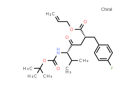 (alphaR)-alpha-[(3S)-3-(tert-Butyloxycarbonylamino)-4-methyl-2-oxopentyl]-4-fluoro-benzenepropanoic acid 2-propen-1-yl ester