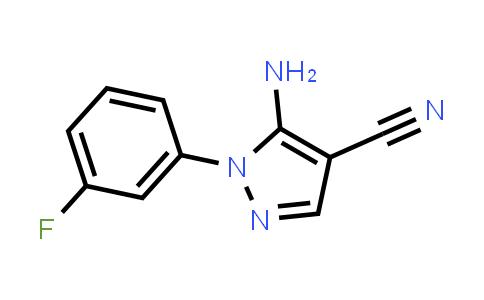 5-Amino-1-(3-fluorophenyl)-1H-pyrazole-4-carbonitrile