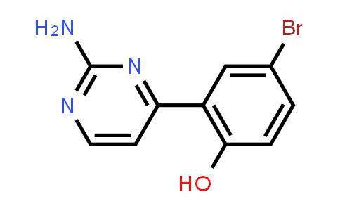 2-(2-Aminopyrimidin-4-yl)-4-bromophenol