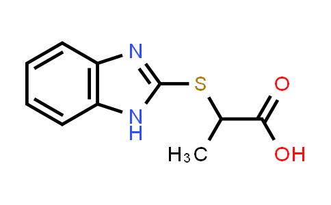 2-(1H-Benzimidazol-2-ylthio)propanoic acid