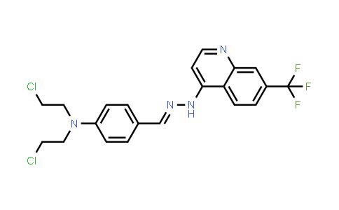 N-[[4-[Bis(2-Chloroethyl)Amino]Phenyl]Methylideneamino]-7-(Trifluoromethyl)Quinolin-4-Amine