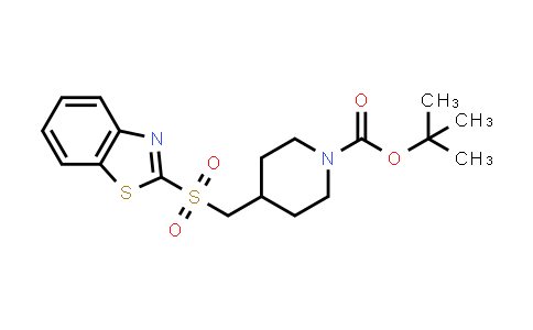 tert-Butyl 4-[(1,3-benzothiazol-2-ylsulfonyl)methyl]piperidine-1-carboxylate