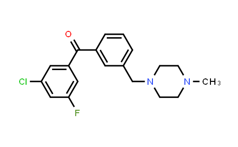 (3-Chloro-5-fluorophenyl){3-[(4-methyl-1-piperazinyl)methyl]phenyl}methanone