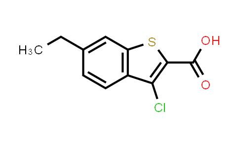3-Chloro-6-ethyl-1-benzothiophene-2-carboxylic acid