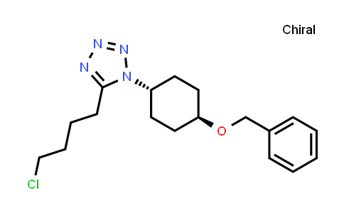 trans-5-(4-Chlorobutyl)-1-[4-(phenylmethoxy)cyclohexyl]-1H-tetrazole