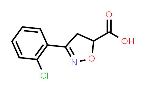 3-(2-Chlorophenyl)-4,5-dihydroisoxazole-5-carboxylic acid
