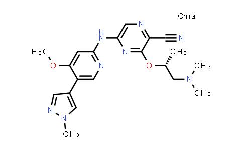 3-[(1R)-2-(Dimethylamino)-1-methylethoxy]-5-[[4-methoxy-5-(1-methyl-1H-pyrazol-4-yl)-2-pyridinyl]amino]-2-pyrazinecarbonitrile