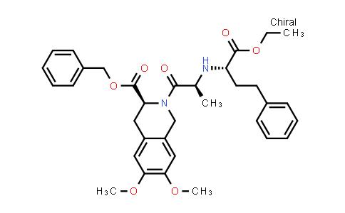 (S)-2-[(S)-2-((S)-1-Ethoxycarbonyl-3-phenylpropylamino)propionyl]-6,7-dimethoxy-1,2,3,4-tetrahydroisoquinoline-3-carboxylicacid benzylester