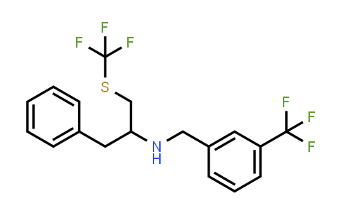 (1-Benzyl-2-trifluoromethylsulfanyl-ethyl)-(3-trifluoromethyl-benzyl)-amine
