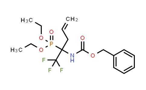 (1-Benzyloxycarbonylamino-1-trifluoromethyl-but-3-enyl)-phosphonic acid diethyl ester