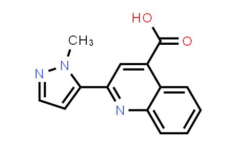 2-(1-Methyl-1H-pyrazol-5-yl)quinoline-4-carboxylic acid