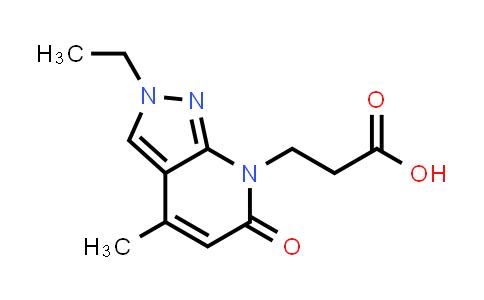 3-(2-Ethyl-4-methyl-6-oxo-2,6-dihydro-7H-pyrazolo[3,4-b]pyridin-7-yl)propanoic acid