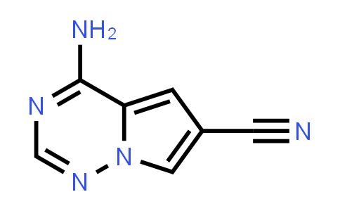 4-Aminopyrrolo[2,1-f][1,2,4]triazine-6-carbonitrile
