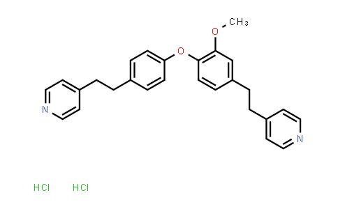 4-[2-[3-Methoxy-4-[4-[2-(4-pyridyl)ethyl]phenoxy]phenyl]ethyl]pyridine dihydrochloride