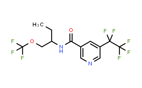 5-Pentafluoroethyl-N-(1-trifluoromethoxymethylpropyl)-nicotinamide