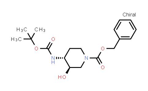Benzyl (3R,4R)-4-(tert-butoxycarbonylamino)-3-hydroxy-piperidine-1-carboxylate