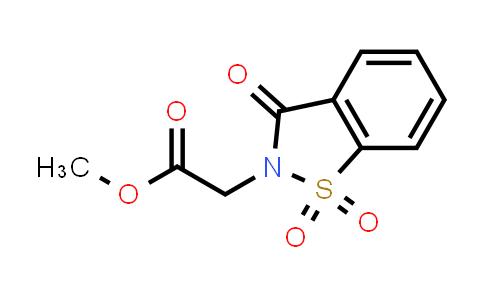 Methyl 2-(1,1,3-trioxo-1,2-benzothiazol-2-yl)acetate
