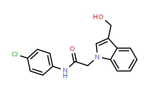 N-(4-Chlorophenyl)-2-[3-(hydroxymethyl)indol-1-yl]acetamide