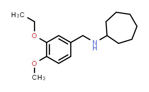 N-[(3-Ethoxy-4-methoxy-phenyl)methyl]cycloheptanamine
