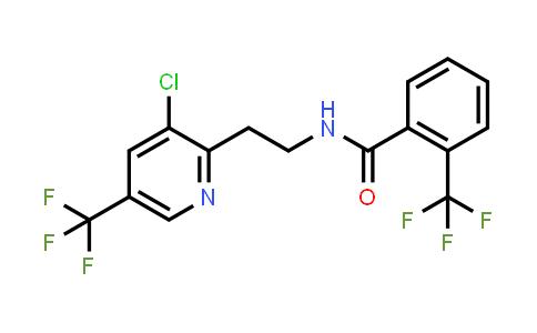 N-[2-[3-Chloro-5-(trifluoromethyl)-2-pyridyl]ethyl]-2-(trifluoromethyl)benzamide