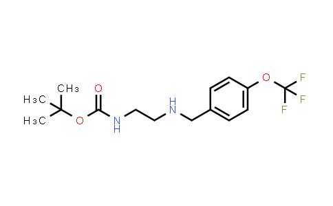 tert-Butyl N-[2-[[4-(trifluoromethoxy)phenyl]methylamino]ethyl]carbamate