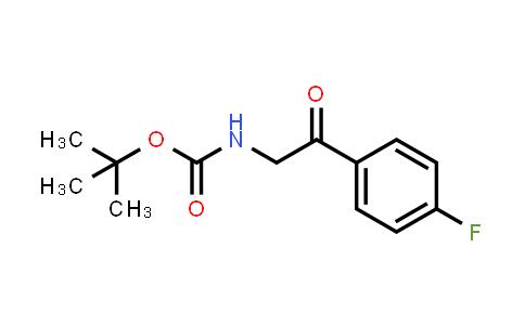 [2-(4-Fluoro-phenyl)-2-oxo-ethyl]-carbamic acid tert-butyl ester