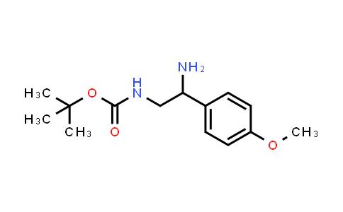 [2-Amino-2-(4-methoxy-phenyl)-ethyl]-carbamic acid tert-butyl ester