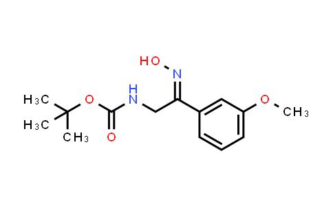 [2-Hydroxyimino-2-(3-methoxy-phenyl)-ethyl]-carbamic acid tert-butyl ester