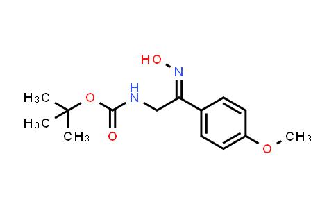 [2-Hydroxyimino-2-(4-methoxy-phenyl)-ethyl]-carbamic acid tert-butyl ester