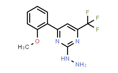[4-(2-methoxyphenyl)-6-(trifluoromethyl)pyrimidin-2-yl]hydrazine