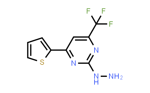 [4-(2-thienyl)-6-(trifluoromethyl)pyrimidin-2-yl]hydrazine